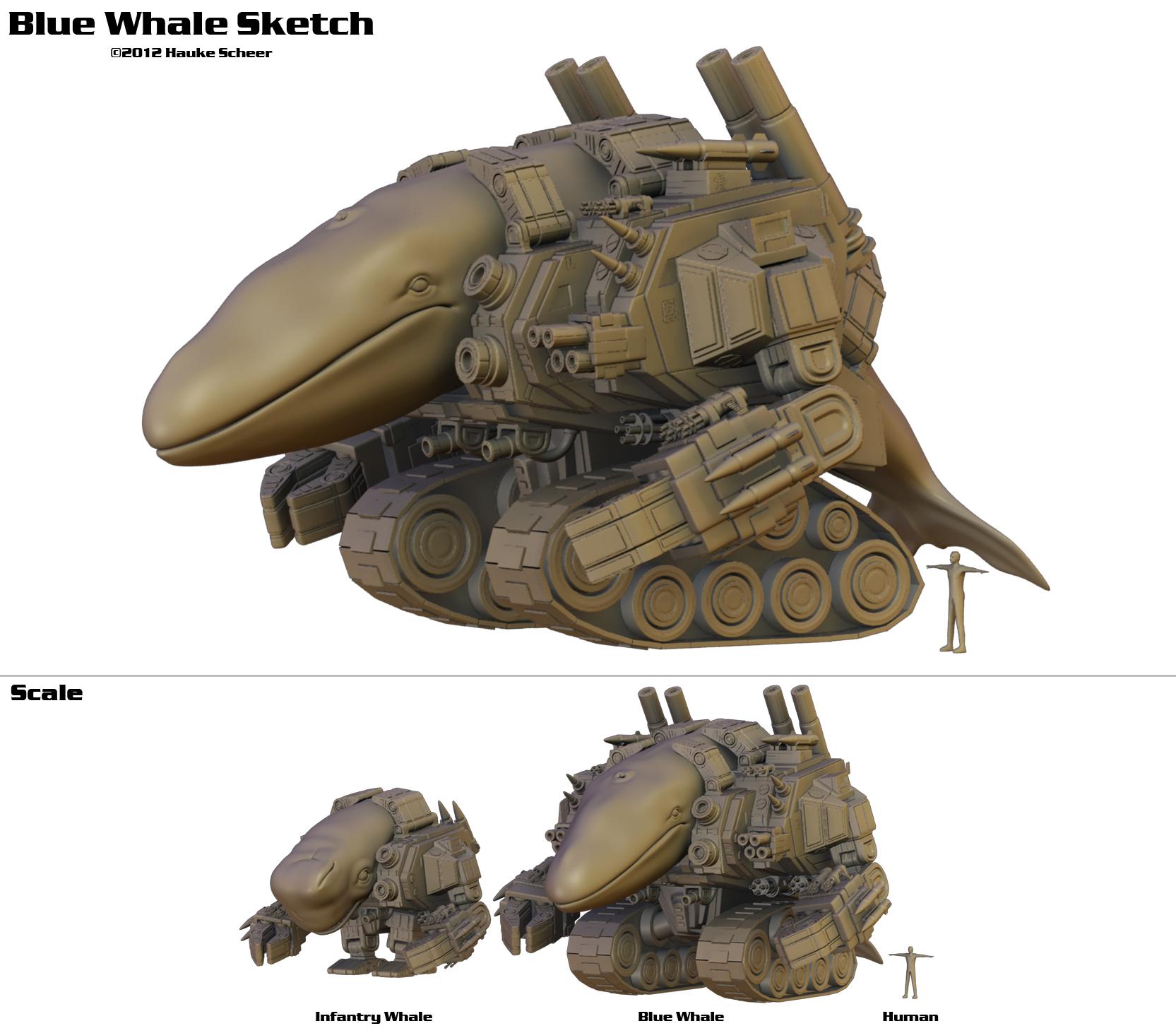 Blue Whale Sketch by hauke3000