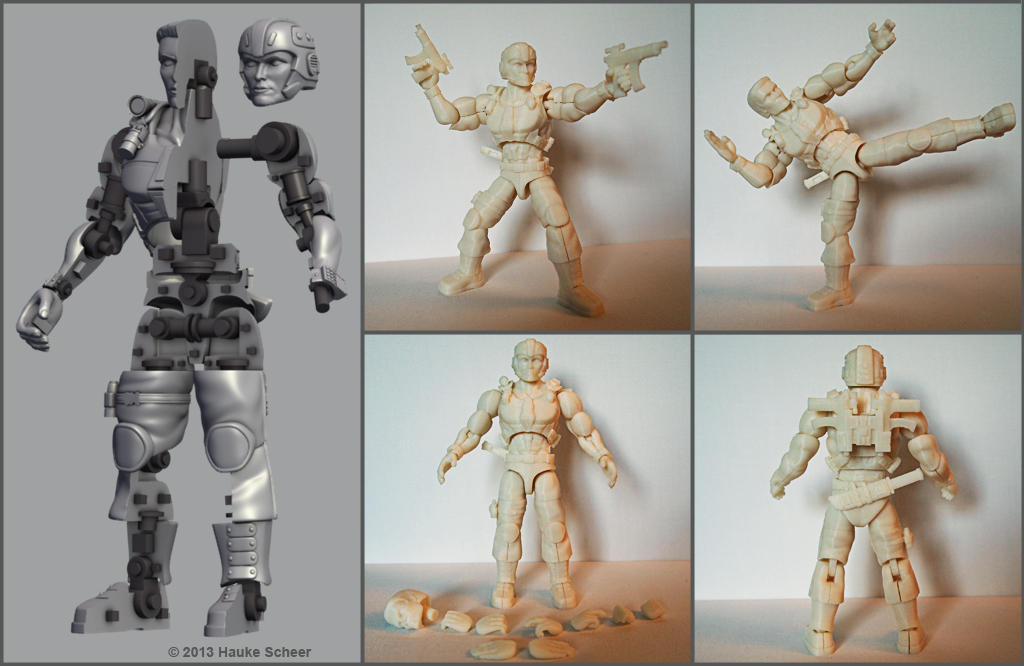 Art 3d Model For Printing A Figure With Action Figure Like Articulation