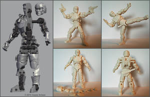 Construction 3D printed action figure 2.0