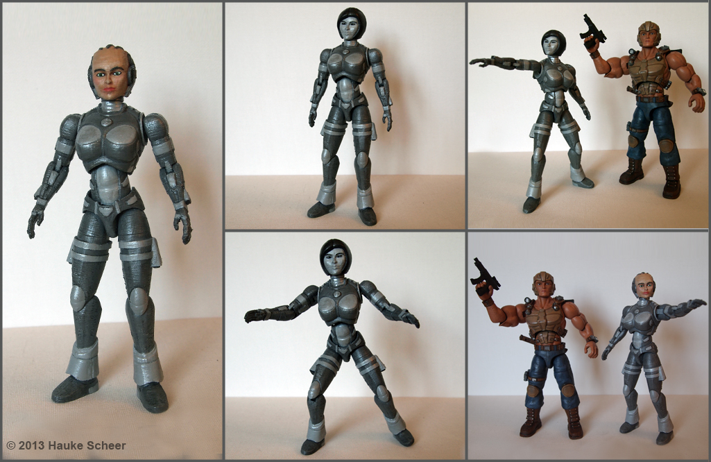 picture about 3d Printable Figures known as 3D revealed motion determine