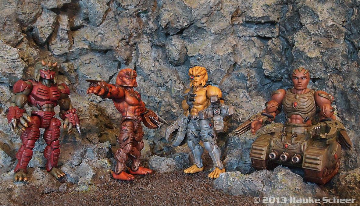 3D printed figures groupshot by hauke3000