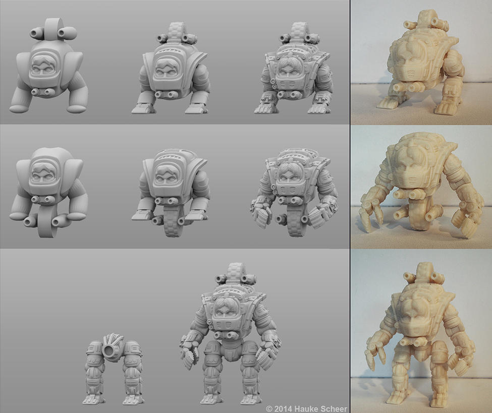 3D Model For 3D Printing An Action Figure