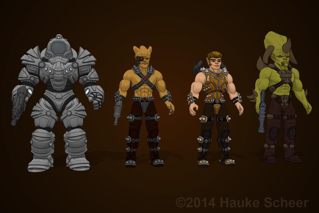 Defender Armor, Y'rok, Gabriel, Krotz by hauke3000