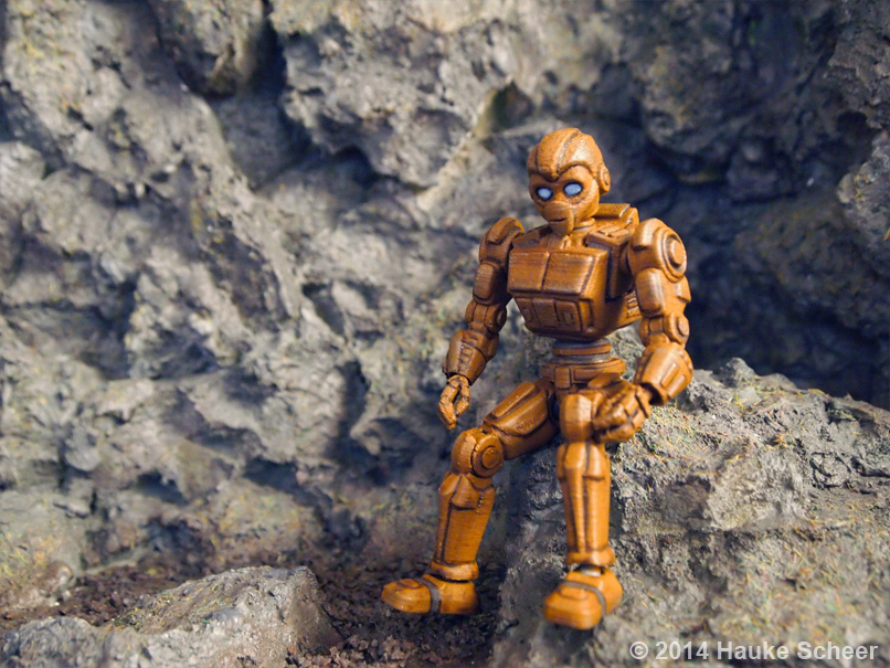 3D printed Robots painted_C by hauke3000