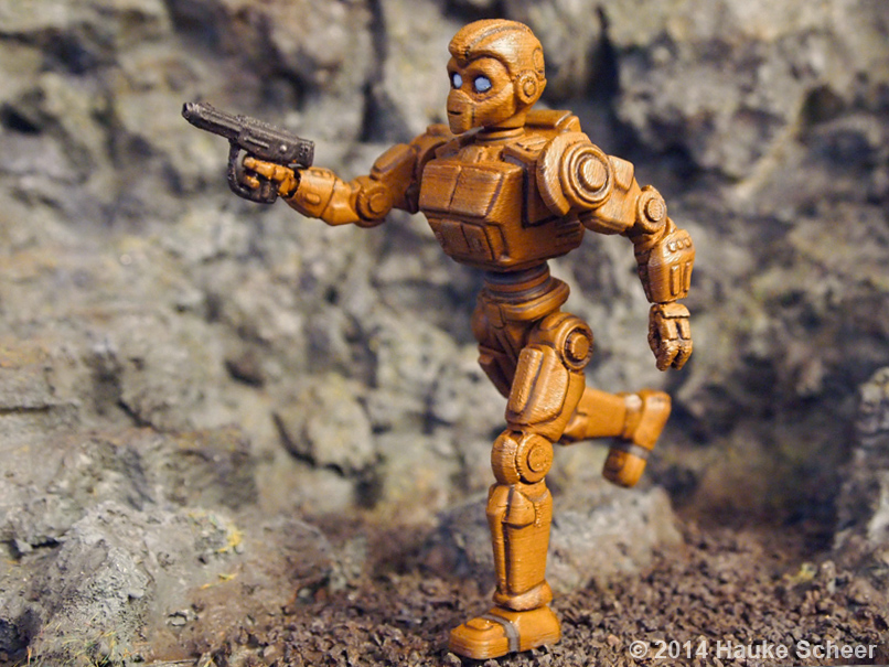 3D printed Robots painted_D by hauke3000