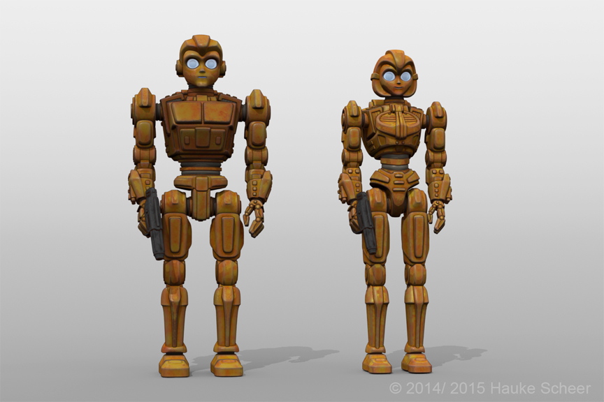 Robot characters without faceguard by hauke3000