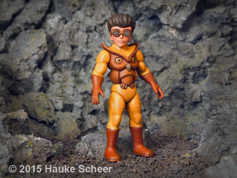 Blazing Bubo 3D printed figure B by hauke3000