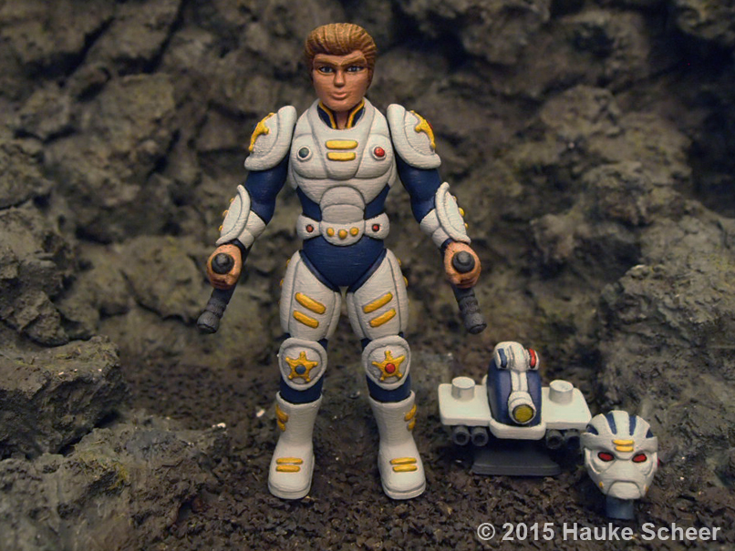 3D printed future police less cute proportions by hauke3000