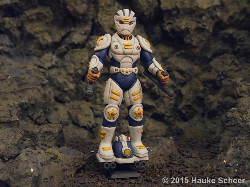 3D printed future police less cute proportions B by hauke3000