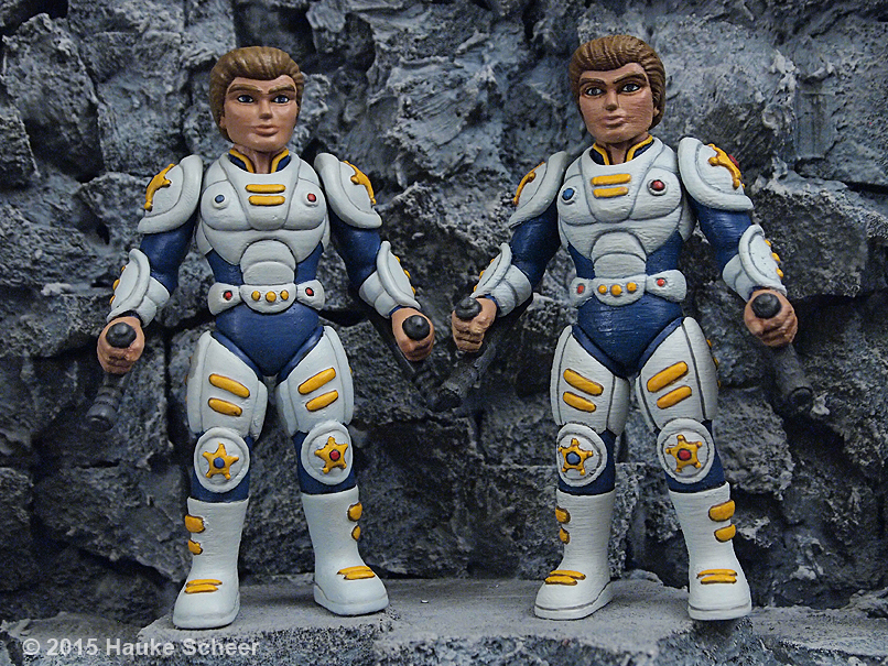 3d printed action figures smoothing comparison by hauke3000