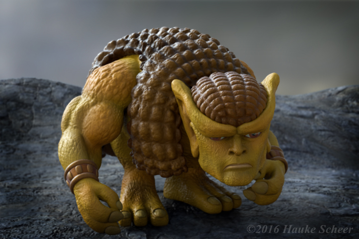 Glyptodor 3D Render Sad by hauke3000