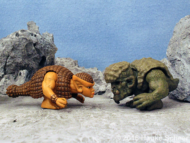 Doedica and Troll figures 3D printed by hauke3000