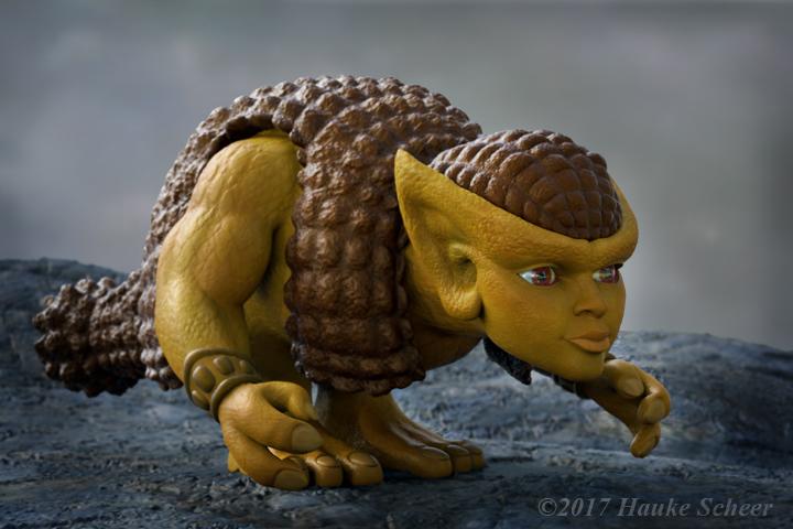 Doedica 3D rendered model side by hauke3000