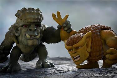 Troll vs Glyptodor by hauke3000