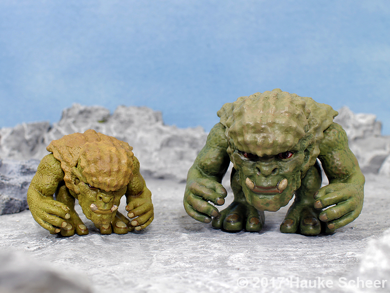 3D printed Troll resin and ABS comparison by hauke3000