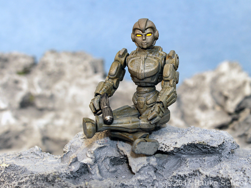 3D printed robot action figures 3 3/4 inch