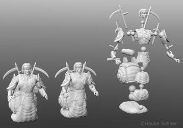 Warsnail 3D models and joints by hauke3000