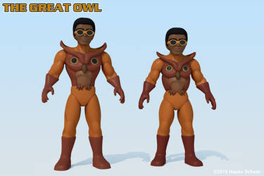 Great Owl new proportions render by hauke3000