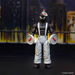 3D Printed Action Figure Button Pusher by hauke3000