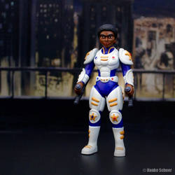 3D Printed Action Figure Future Police Unmasked by hauke3000