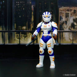 3D Printed Action Figure Future Police with helmet by hauke3000