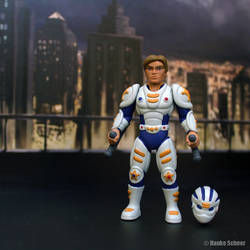 Male Future Police action figure 3d printed by hauke3000