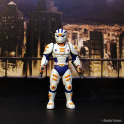 Male Future Police action figure 3d printed helmet by hauke3000