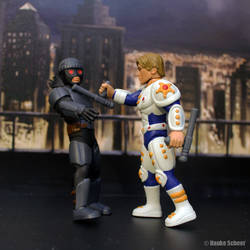 Male Future Police action figure 3d printed action by hauke3000