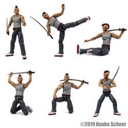 3D printed Street Samurai Actio Figure by hauke3000