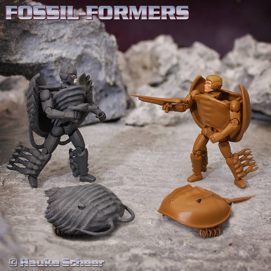 Fossil-Formers 3D printed action figures by hauke3000