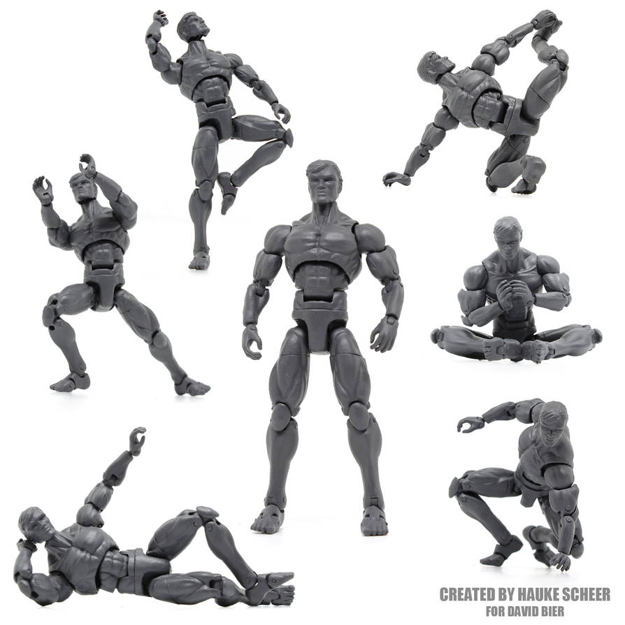 3D printed action figure comission by hauke3000