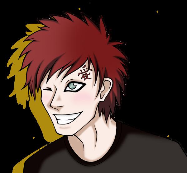 Gaara smile by ByLi4 on deviantART