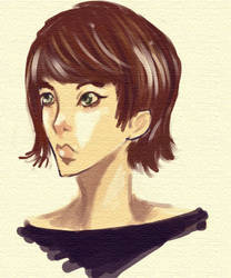 self portrait by AynElf