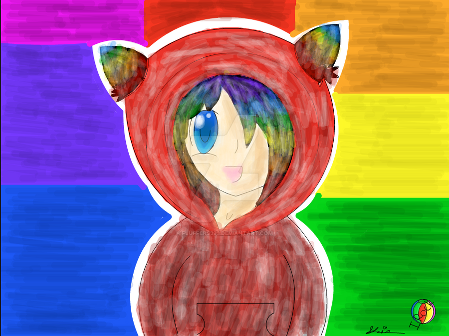 Rainbow Cat Girl (done On Disney Create) by fluffers393 on DeviantArt