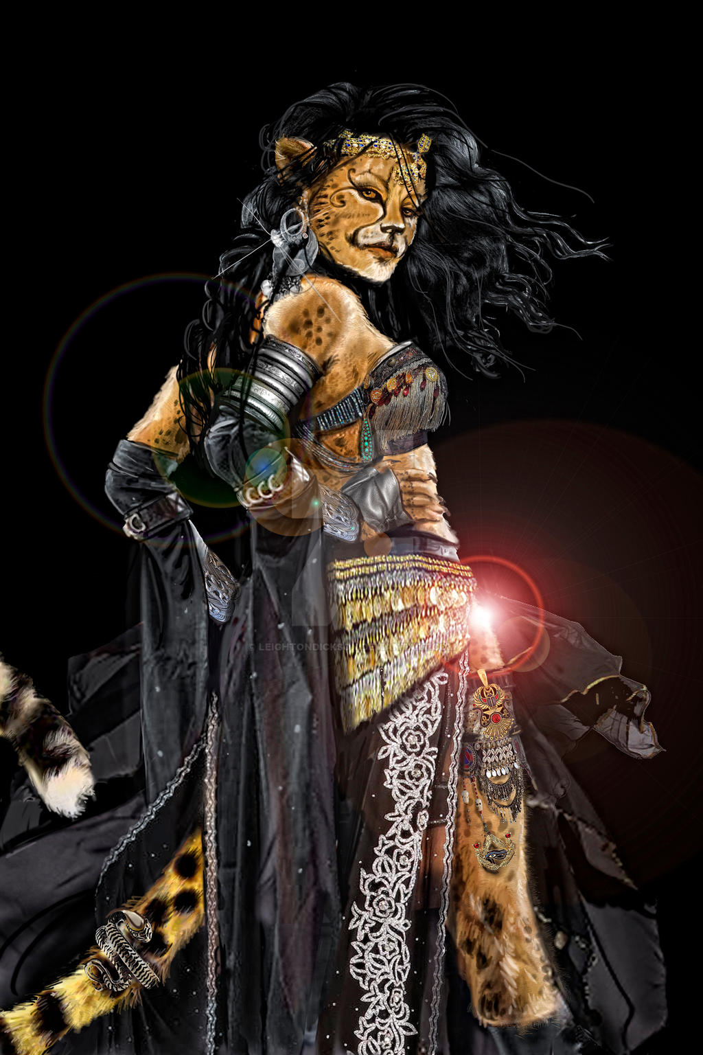 Cheetah Gypsy Woman - Sherah by leightondickson on DeviantArt