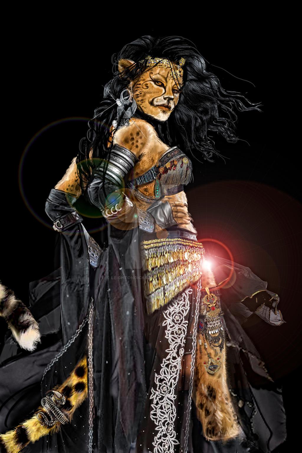 Cheetah Gypsy Woman - Sherah by leightondickson on DeviantArt