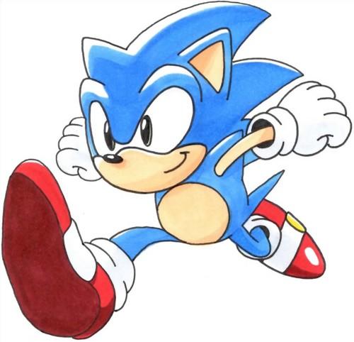 Classic Sonic Running By Speedthehedgehog101 On Deviantart