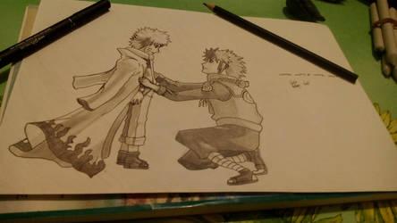 Minato and Naruto by GiGaAnime