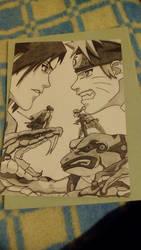 Sasuke vs Naruto by GiGaAnime