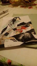 Renji and Byakuya by GiGaAnime