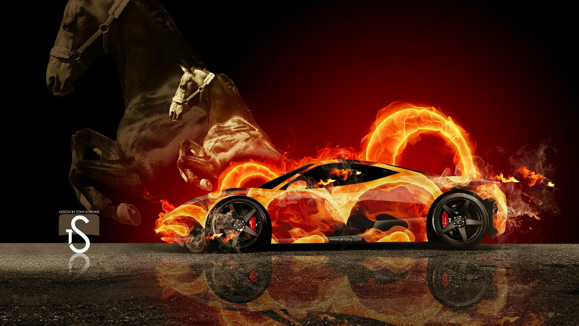 Ferrari Italia Fire By Sampatel On DeviantArt - Cool cars on fire