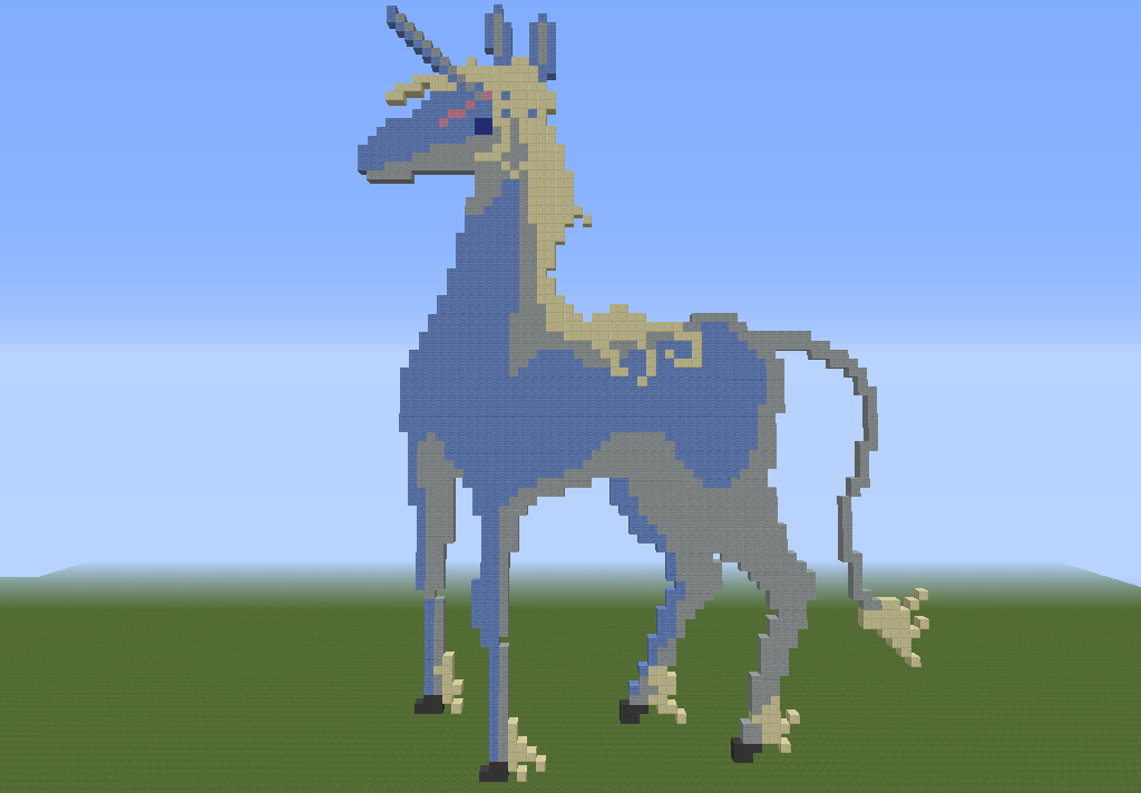 A Unicorn Pixel Art by HDzPh4ntom