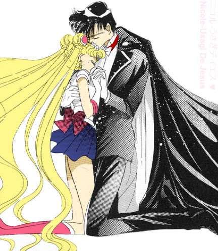 Sailor Moon and Tuxedo Mask by MoonPrincessNikoru