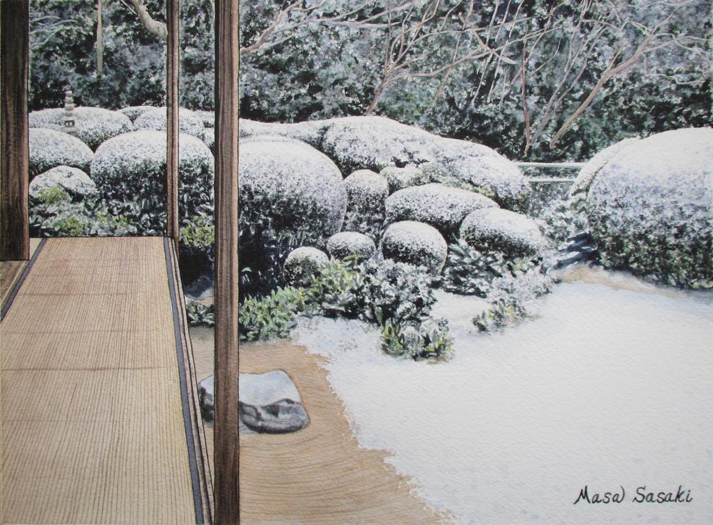 117 a zen garden in winter by masasasaki on deviantart - Gardening mistakes maintaining garden winter ...
