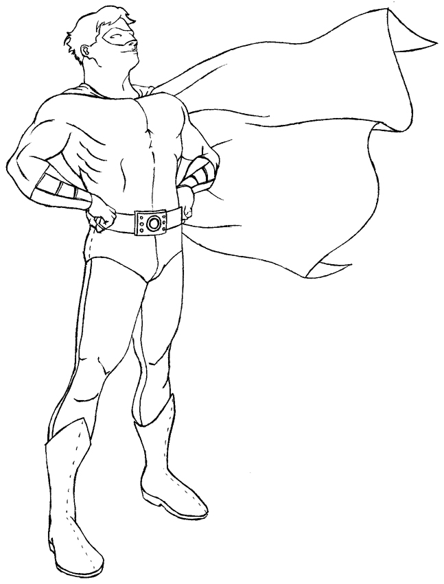 free generic superhero coloring pages - photo#12
