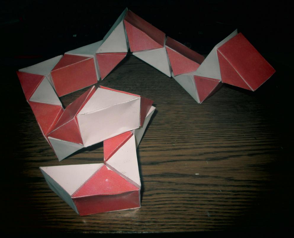 Papercraft Rubik's Snake by galaxy5111
