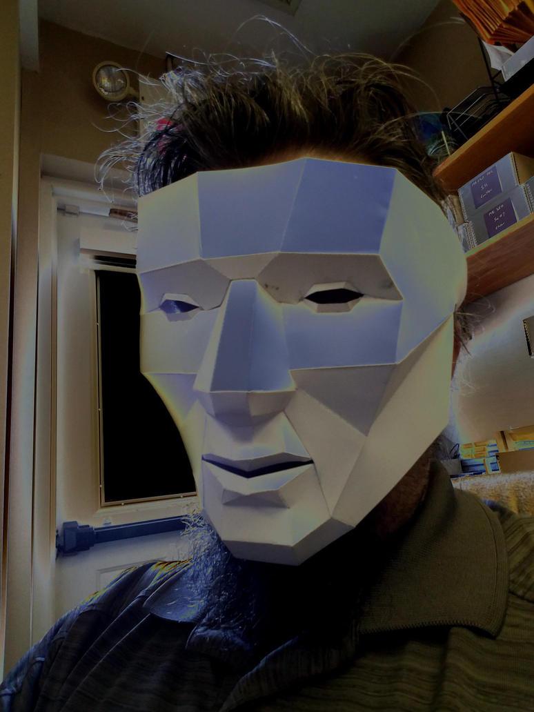 lo-poly papercraft mask by galaxy5111