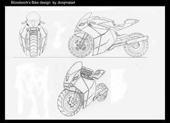 Bloodwork's bike design by jkrojmalart