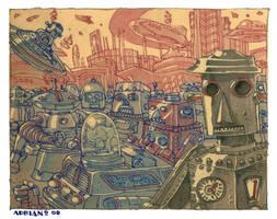 Robot city by adrianperezacosta