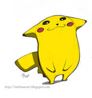 Pikachu again by sketchinthoughts